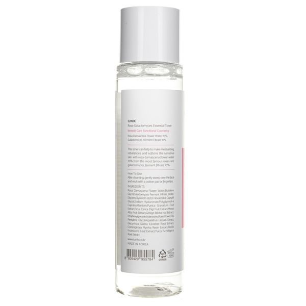 iUNIK Rose Galactomyces Essential Toner - 200 ml zdjęcie 3