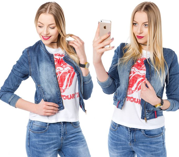 kurtki jeansowe damskie obrazy