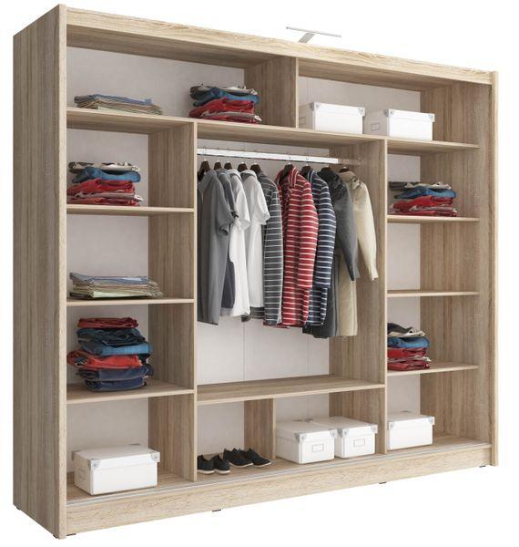 Szafa AWENA PLUS 250cm,garderoba,lustro,sypialnia,przedpokój 4 kolory! zdjęcie 5