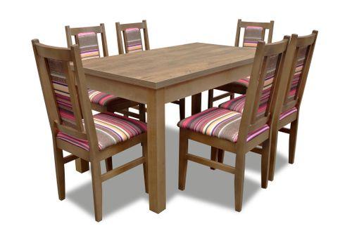 Krzesła i stół rozkładany (6xK27 i stół S16), 6 krzeseł, zestaw na Arena.pl