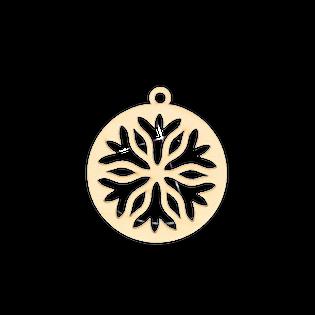D683 Świąteczna zawieszka bombka ze śnieżynką