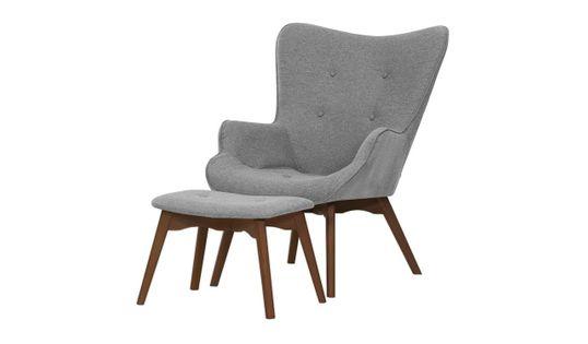 Fotel uszak z podnóżkiem Ducon Malmo-Malmo 90-ciemny dąb