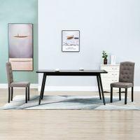 Krzesła do jadalni 2 szt. taupe tapicerowane tkaniną VidaXL