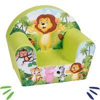DELSIT mięciutki fotelik pufa z pianki dla dziecka Lew