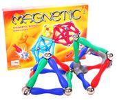 Klocki Magnetyczne Kolorowe Edukacyjne 120 elementów U03