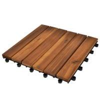 Drewniane Płytki Tarasowe 30 X 30 Cm Akacja 30 W Zestawie