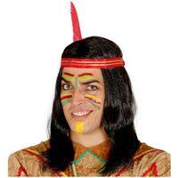 peruka INDIANINA indianin CZARNE włosy z opaską