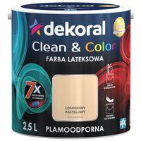 Dekoral Clean & Color 2,5L ŁOSOSIOWY PASTELOWY