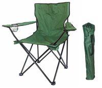 Krzesło turystyczne wędkarskie składane Zielone