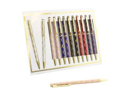 Kpl. 12 długopisów - Laser pen (mix kolorów)