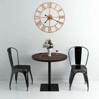 Lumarko Zegar ścienny, metal, 40 cm, złoty
