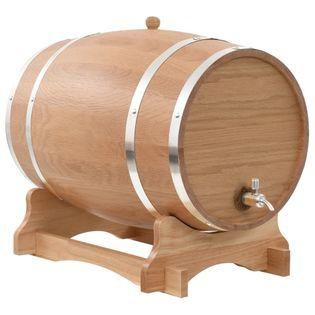 Beczka Na Wino Z Kranikiem, Lite Drewno Dębowe, 35 L