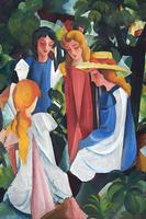 Reprodukcje obrazów Four Girls - August Macke Rozmiar - 40x26