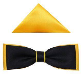 Czarno-żółta muszka fason slim B47