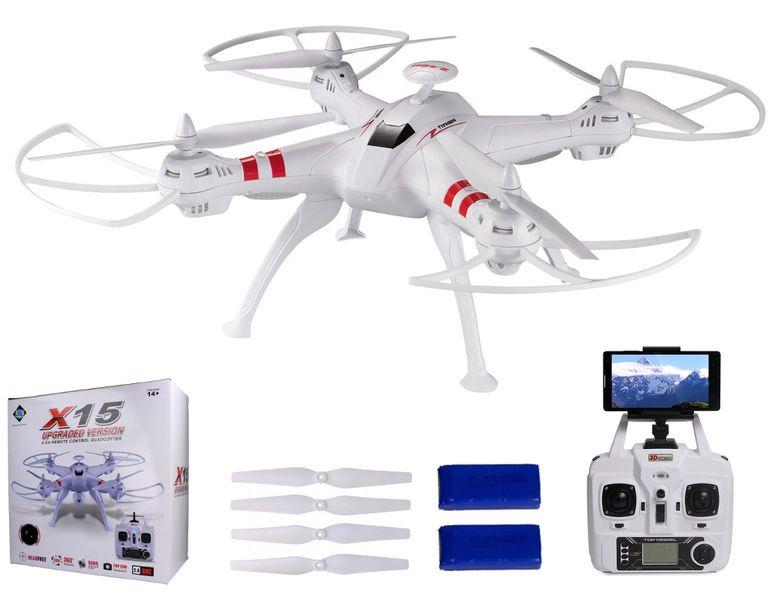 DRON TYPHON X15 z Kamerą WiFi na telefon 4000mAh (2xAku) Z184Z zdjęcie 1