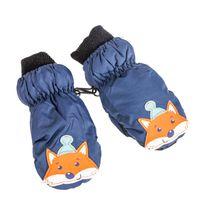 PEPCO Rękawiczki chłopięce w paski S melanż szary
