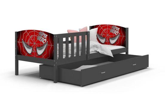 Łóżko TAMI P 200x90 wysuwana szuflada + materac