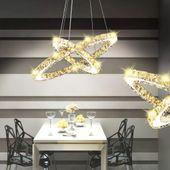 Lampa wisząca LED w kształcie podwójnego pierścienia, 23,6 W