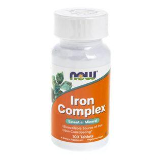 Now Foods Iron Complex (kompleks żelaza) - 100 tabletek