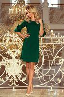 Pudełkowa sukienka - Zielony S