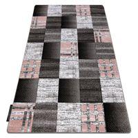 Dywan ALTER Siena Kwadraty kratka szary szary 200x290 cm