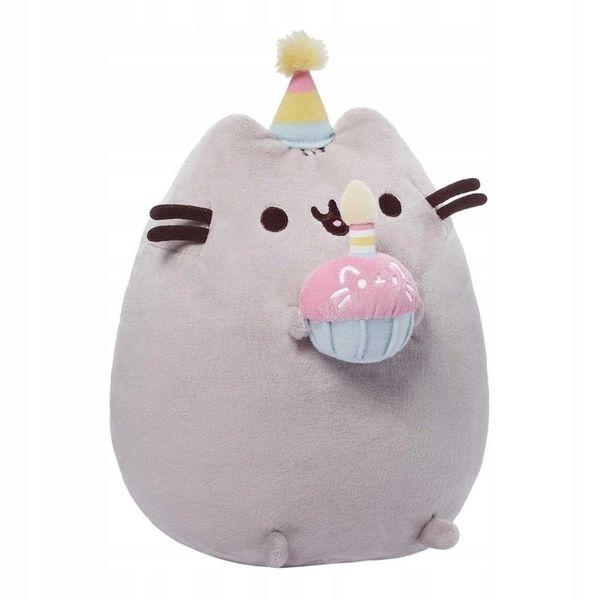 Maskotka Pusheen Pushen Puszin Kot Przytulanka Cat Tort Urodziny