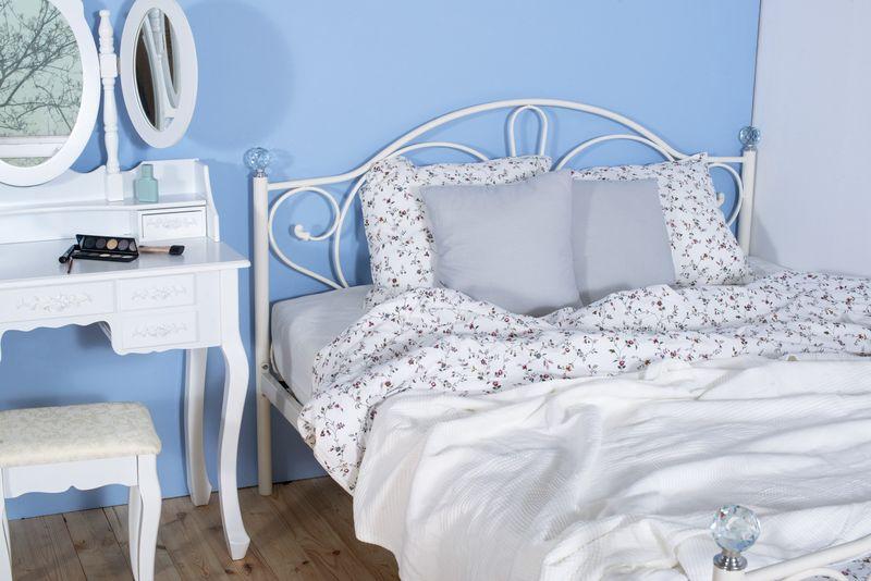 łóżko Metalowe Elizabeth 140x200 Białe