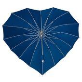 Parasolka w kształcie serca w kolorze granatowym zdjęcie 4