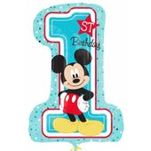Amscan Balon foliowy Miki Cyfra 1 urodziny