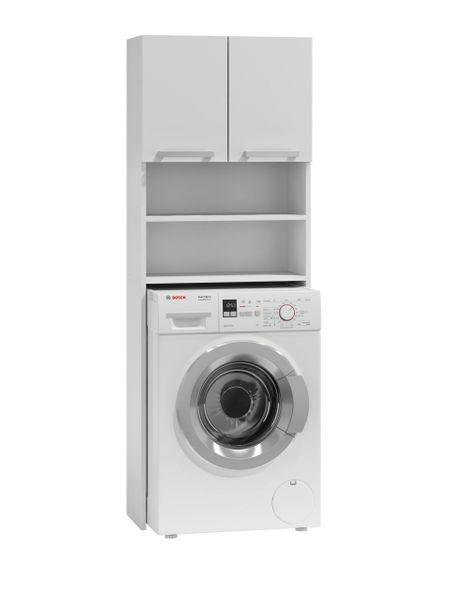 Szafka łazienkowa nad pralkę biel zdjęcie 2
