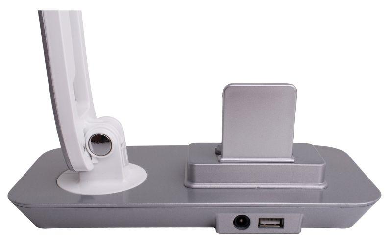 Lampka biurkowa LED 7W FUTURA stacja dokująca micro USB + port USB zdjęcie 3