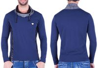 LONGSLEEVE BLUZKA CIPO BAXX C44202 NAVY BLUE R.XL
