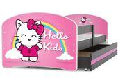 Łóżko Luki 160x80 dla dzieci dziecięce dla jednej osoby + STELAŻ
