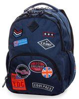 Plecak młodzieżowy CoolPack Bentley Badges Blue