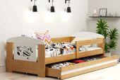 Łóżko pojedyncze FILIP 160x80 dla dzieci + SZUFLADA + BARIERKA zdjęcie 16
