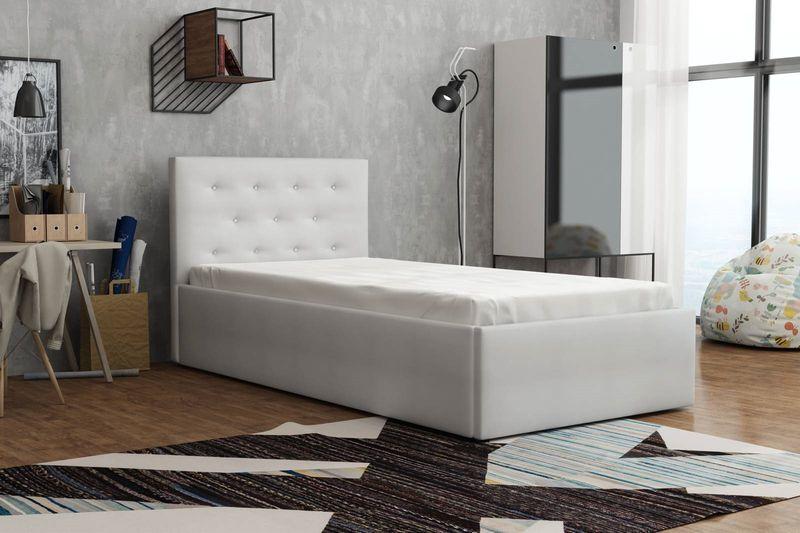 Łóżko młodzieżowe tapicerowane 90x200 BIRD Star zdjęcie 2
