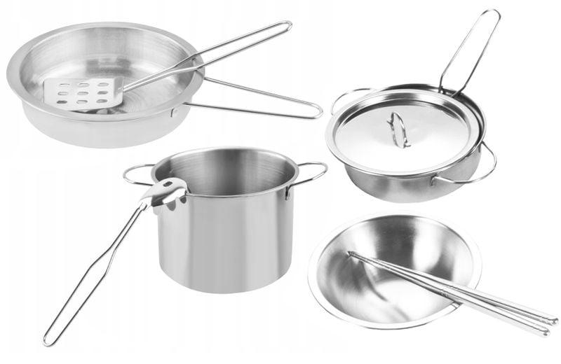 Garnki metalowe dla dzieci akcesoria kuchenne zestaw 14 elementów U30 zdjęcie 8