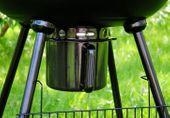 Grill BBQ okrągły ogrodowy na węgiel drzewny D02478 zdjęcie 3