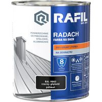 Radach Farba na dach czarny głęboki RAL 9005 10L