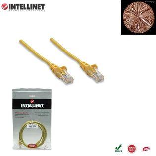 Patch Cord 100% miedź Intellinet Cat.6 UTP, 1m, żółty ICOC U6-6U-010-YE