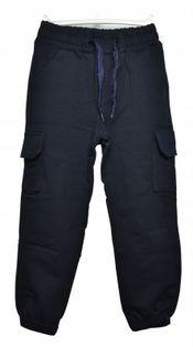 Spodnie bojówki chłopiece, bawełna roz.128