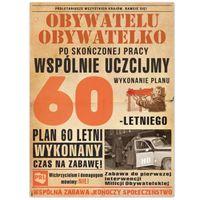 urodzinowe ETYKIETY naklejki WÓDKĘ 60 urodziny PRL