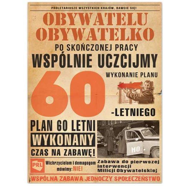 Bardzo dobra urodzinowe ETYKIETY naklejki WÓDKĘ 60 urodziny PRL • Arena.pl HZ76