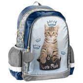 Lekki plecak szkolny z kotkiem w koronie, Paso Rachael Hale
