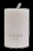 Świeca walec Metalik szampańska 10x7 cm