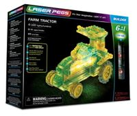 Laser Pegs Świecące Klocki 6W1 Farm Tractor 89El. 61011