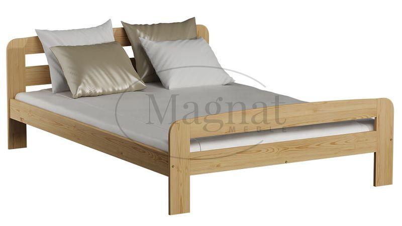 łóżko Drewniane Sosnowe Klaudia 140x200 Stelaż Sprężynujący Materac