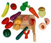 Zestaw KUCHNIA drewniane owoce i warzywa do krojenia magnetyczne Z211 zdjęcie 4