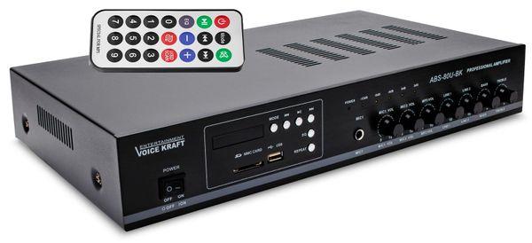 Wzmacniacz PA 80W ABS-80U USB/SD wej. na mikrofon