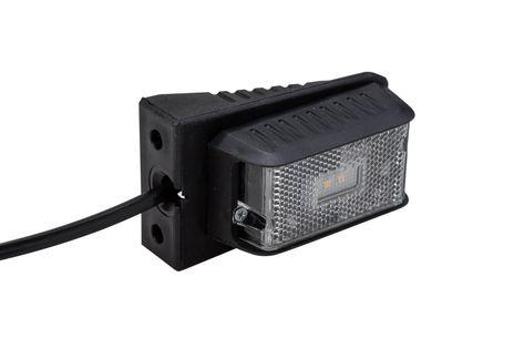Lampa obrysowa LED biała DPT15 z uchwytem i kablem